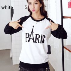 Eiffel Tower sweatshirt for women Paris letter design sweatshirts cheap