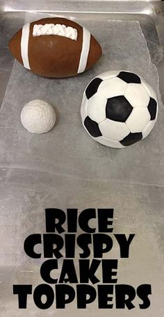 Sport Cake Toppers - how to make rice crispy toppers