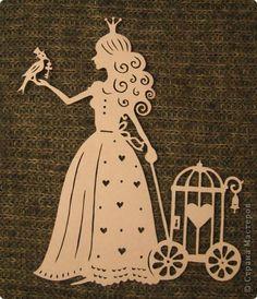 Картина панно рисунок Вырезание Женские образы Бумага фото 3