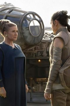 "Star Wars: Episode VII ""The Force Awakens"": General Leia and Rey"