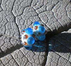 Raised Dots LAMPWORK PAIR Lampwork Beads by Cherie by happyskull, $8.00