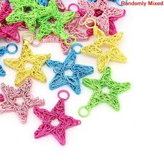 5 Metal Star Mixed Color Charms Pendant Lot. by BreezeBeading, $4.00