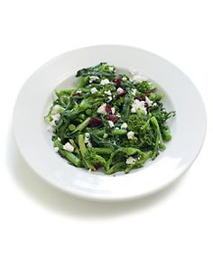 Broccoli Rabe With Dried Cranberries and Feta Cheese