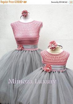 VENTA madre hija juego vestidos de adulto vestido vestido de