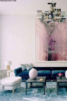 blush pink | teal blue | interior design | http://francoise-nelly.com