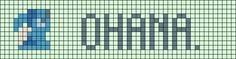 Ohana Alpha pattern Friendship bracelet