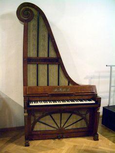 Upright giraffe piano