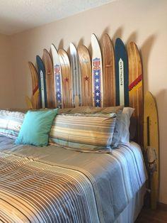 Cabecero de cama con esquís