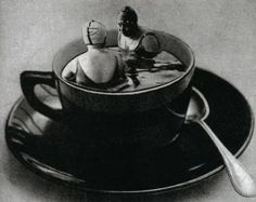 The Coffee Bath , 1933 ~Studio Manasse' (husband and wife photographers Olga Sporlanics & Adorian Wlassics)