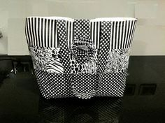Free Bag Pattern and Tutorial - Black and White Tote Bag