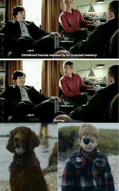 ''We never had a dog Sherlock.'' // I just watched this episode and it fxxked me over so bad Sherlock Holmes Bbc, Sherlock Fandom, Sherlock John, Moriarty, Sherlock Humor, Sherlock Comic, Martin Freeman, Benedict Cumberbatch, Detective