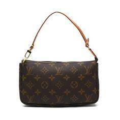 Louis Vuitton Pochette Accessoires(Old Model) Monogram Handle bags Brown Canvas M51980