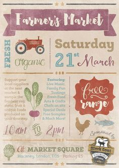 fundraising infographic : Create a Bold and Bright Farmers Market Poster