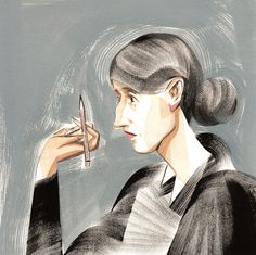Virginia Woolf by Ping Zhu.