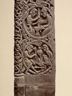 Photoed from my personal copy of Teutonic Myth & Legend by Donald Mackenzie circa Viking Life, Viking Art, Viking Woman, Viking Designs, Native American Symbols, Norse Vikings, Viking Tattoos, Celtic Art, Wooden Art