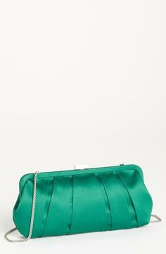 Vintage style clutch for a pop of color. Emerald.