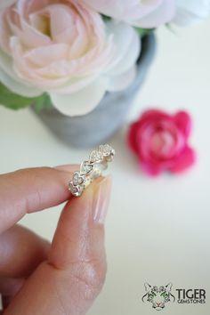 1/2 Carat Heart Style Eternity Ring Round Art by TigerGemstones