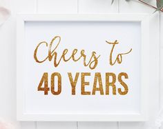 40ste verjaardag ondertekenen Pack 40e verjaardag DIGITALE