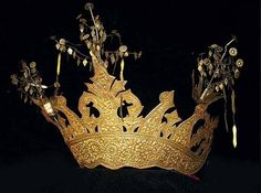 gilt silver Lampung crown Indonesian (archives sold Singkiang)