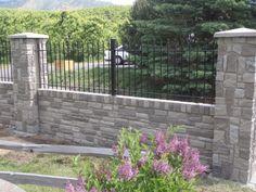 Combining Iron/ Aluminum Fence with Brick, Stone or Wood Pillars ...