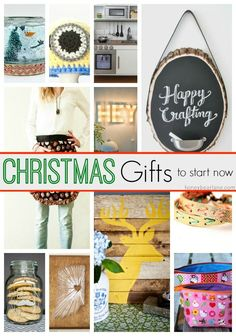 20 Christmas Gifts To Start Now - get a head start on your handmade gifts so you can finish them in time!