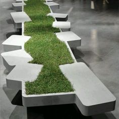 Planted stone seating :)