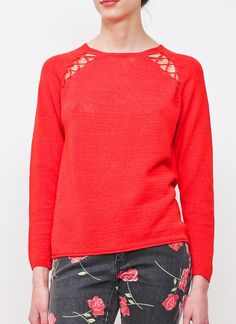 Laced Knit Sweater by Something Else