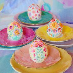 Painted eggs, handmade by Frida Pontén☀️☀️☀️
