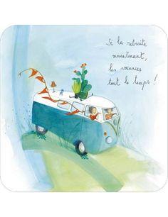 """Anne-Sophie RUTSAERT carte d'art """"Si la retraite..."""""""