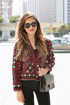 Zara Ethnic Embroidered Jacket - Beautiful Wardrobe