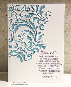Quick and Easy Card of Encouragement | Create It Simply with Tami Mayberry