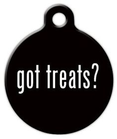Dog Tag Art Custom Pet ID Tag for Dogs - Got Treats? - Small - .875 inch *** Be sure to check out this awesome product.