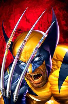 Wolverine ( X-Men ) // Marvel // Art Wolverine Tattoo, Wolverine Claws, Wolverine Art, Comic Book Artists, Comic Book Characters, Marvel Characters, Comic Books Art, Comic Artist, Marvel Comics