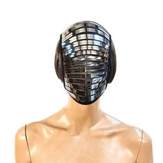 Futuristic fencing mask scifi goggles future cyber eyewear   Etsy Headdress, Headpiece, Fencing Mask, Fencing Sport, Futuristic Armour, Shoulder Armor, Cool Masks, Egyptian Goddess, Neck Piece