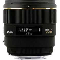 Sigma 85mm f/1.4 EX DG HSM Lens For Canon EOS Digital SLR 320101   B&H Photo Video