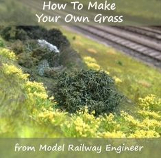 How To Make Your Own Grass for Your Model Railway #modeltrainlayouts #modelrailroadsupplies #hobbytrains