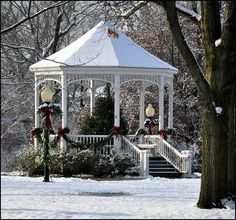 Christmas in the gazebo