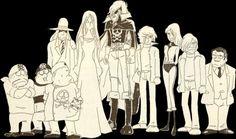 albator-le-corsaire-de-l-espace-personnages-noir-et-blanc.jpg (468×276)