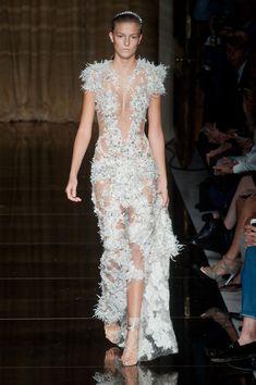 Julien Macdonald SS14 // sheer lace gown
