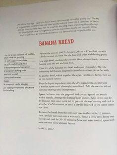 Peter Evans Paleo Banana Bread