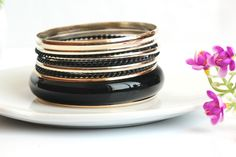 Fresh and Gorgeous Multilayer Temperament Black Bracelets for Women
