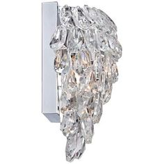 "Carriere 9 3/4"" High Crystal Wall Sconce - #6G060 