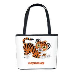 #Personalized #Tiger Design #Bucket #Bag
