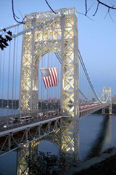 From NJ - Fort Lee: George Washington Bridge at night