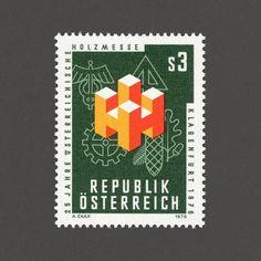 25th Anniversary of the Austrian Woodworking Fair. Austria 1976. Design: Alexander Exax. #graphilately #mnh #graphiaustria by graphilately