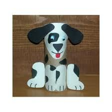 Puppy dog toilet paper roll craft for kids