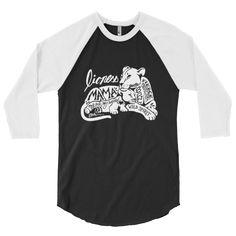 Lioness Mama & Cub - baseball raglan tee