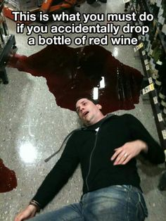 what to do if you accidently drop a bottle of red #wine