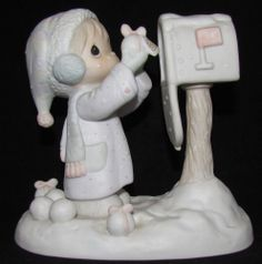 Precious Moments Figurine w/ Box ~ E-2829 ~ I'm Sending You A White Christmas