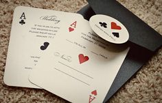 Invitations for Poker Night themed party